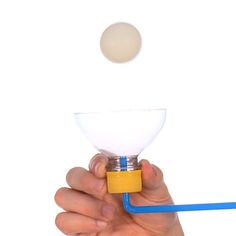 Floating Ping Pong Ball - The power of air allows you to levitate a ball in midair -The Floating Ping Pong Ball is a wonderful example of Bernoulli's Principle, the same principle that allows heavier-than-air objects, like airplanes, to fly.