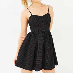 Strap V Neck High Waist Mini Pleated Dress
