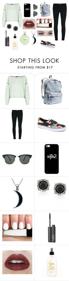 """When your on your period outfit "" by mymash1995 ❤ liked on Polyvore featuring rag & bone, H&M, J Brand, Vans, Ray-Ban, Casetify, Carolina Glamour Collection, Mark Broumand, NARS Cosmetics and Haze"
