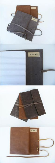 Personalized Leather Journal/Diary by Nomad Travel Gear | Love this reusable #journal #KristenWhiteMedia www.KristenWhite.net