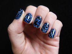 Leopard-inspired Nail designs