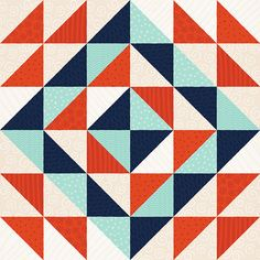 Triangle quilt pattern by Paper Bicycle.