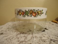 Vintage Pyrex Spice of Life Jumbo Jar Canister by NibblesOfNosh