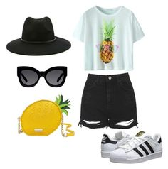 Untitled #145 by yasmeenf on Polyvore featuring polyvore, fashion, style, Topshop, adidas Originals, Kate Spade, Karen Walker and Forever 21