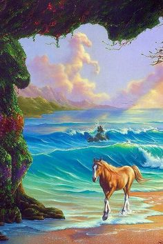 This painting reminds me of the horse pictures I used to decorate my walls with when I was little.