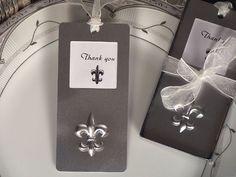 Mark it with memories bookmark collection fleur de lis design