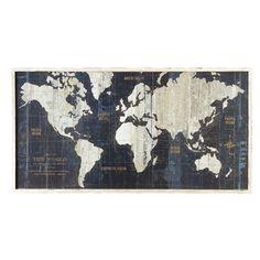 Amanti Art - Wild Apple Portfolio 'Old World Map Blue' Framed Art Print - Artwork Blue Framed Art, Framed Maps, Framed Wall Art, Framed Art Prints, Blue Art, Color Blue, Colour, Old World Maps, Vintage World Maps