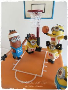 Minions Basketball Team Cake