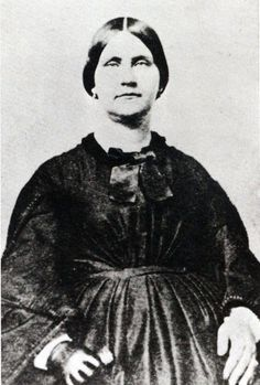 Mary Elizabeth Jenkins Surratt (May 1823-1865) an American boarding house owner who was convicted of taking part in the conspiracy to assassinate President Abraham Lincoln. Sentenced to death, she was hanged, becoming the first woman executed by the United States federal government.