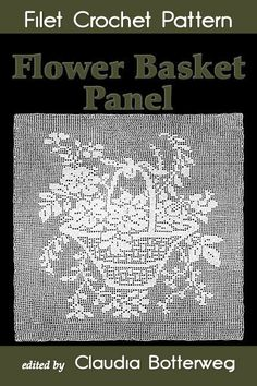 Today you can use the pattern to make a pillow cover, a square doily or a wall hanging, or even use baby yarn for a light afghan.Designed in 1921 as a pillow cover pattern, Emma Loper made it a tribute to her crafty ancestors, who made mesh lace with Vintage Crochet Patterns, Easy Crochet Patterns, Crochet Designs, Flower Patterns, Filet Crochet, Crochet Doilies, Crochet Art, Love Symbols, Flower Basket