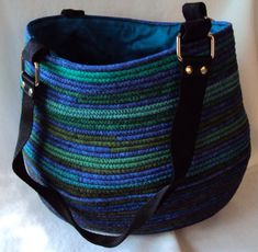 Jewel Tone Clothesline Tote Purse by QuiltsFabricandmore on Etsy