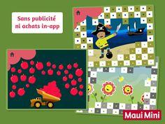 En glissant le doigt sur l'écran, les enfants auront l'occasion d'améliorer le degré de précision après avoir découvert les sons, des dessins et des animations. Maui Mini App Jeux Éducatifs