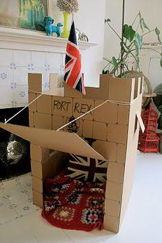DIY Cardboard Castle Fort // Kat This Kat That