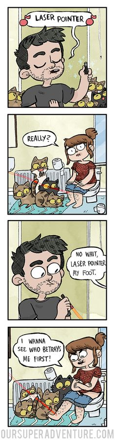 Our Super Adventure :: laser pointer | Tapastic Comics