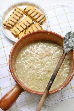 Baccalà alla vicentina con polenta grigliata