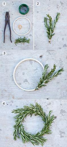 // DIY Rosemary Wreath