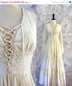 The Ultimate 1970s Hippie Wedding Dress ======> Corset Bodice $96.00