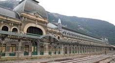 Canfranc International Railway Station, Spain This railway gem opened in 1928 at one end of a tunnel running between Canfranc and Pau beneath the Spanish Pyrenees, to deal with differing gauge sizes between France and Spain. Everything had to be transferred from one train to another at the border, giving passengers ample time to admire the outstanding Art Nouveau architecture of the 240 metre-long station and hotel.