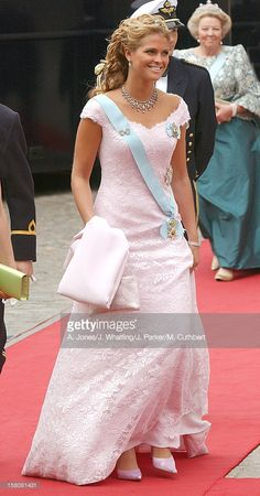 Princess Madeleine Of Sweden Attends The Wedding Of Crown Prince Frederik & Mary Donaldson At The Vor Frue Kirke Catherdal In Copenhagen. .