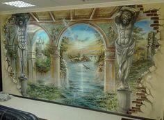 художественную роспись стен