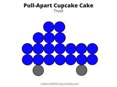 Truck Pull-Apart Cupcake Cake Template