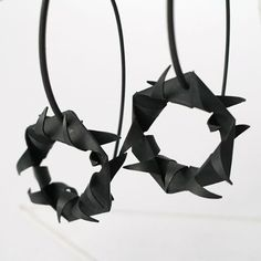 Earrings from Undawata collection - patinated silver - by Mimikra / Kinga Sulej