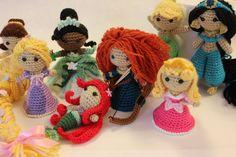 PATTERN Merida Warrior Princess Brave Crochet Doll Amigurumi. $4.95, via Etsy.