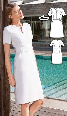 Dress Burda Aug 2016 #124A  http://www.burdastyle.com/pattern_store/patterns/power-dress-082016