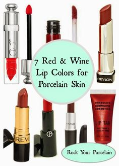 Rock Your Porcelain: 7 Red and Wine Lip Colors for Pale Skin | Perfect for girls with pale and fair skin