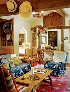 Take a Peek Inside of Anjelica Huston's Rustic California Ranch Photos | Architectural Digest