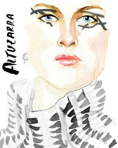 Altuzarra // New York Fashion Week in watercolor, by Samantha Hahn: http://thecut.io/1UDuCFv