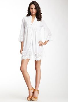 Cutest tunic ever! Yuka Beach Long Sleeve V-Neck Tunic by Yuka Paris & Yuka Beach on @HauteLook