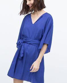 Image 2 of JACQUARD VISCOSE DRESS from Zara