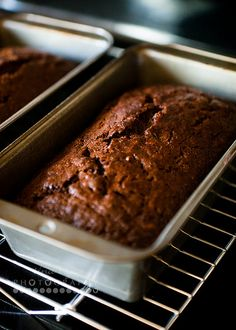 Chocolate Zucchini Bread I baked at 375 for 60 minutes. I used smaller loaf pans than what is called for. Cut the baking soda in half. No nuts. Used 1 cup semi sweet morsels. Turned out yummy.