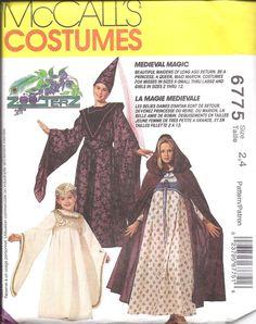 6775 UNCUT Vintage McCalls SEWING Pattern Medieval Dress Costume Halloween OOP #McCalls