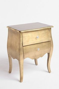 I would repaint this a silver/grey but they are gorg!!  Brass Leaf Side Table