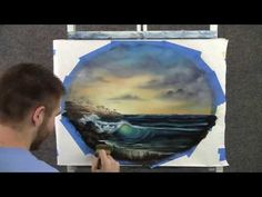 """Sunset Surf""  an oil painting by  Kevin Hill"