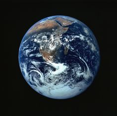 """This one This famous """"Blue Marble"""" shot represents the first photograph in which Earth is in full view. The picture was taken on December as the Ap. Earth And Space, Solar System Images, Our Solar System, Dandy, Destinations, Whole Earth, Earth Science, Finding Peace, Planet Earth"""