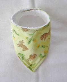 Baby Bandana Dribble Bib Handmade Spring Bunny Easter $6