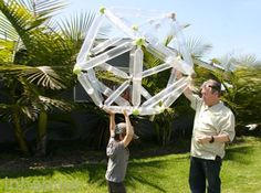 Grandfather Creates Geodesic Toys From Trash to Teach Kids Green Design