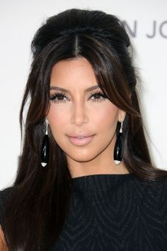 Love the subtle chocolate brown highlights in black hair color.