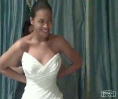 "Pin for Later: The Most Stunning Celebrity Spring Weddings Beyoncé and Jay Z Beyoncé shared a photo of her wedding dress for her April 2008 wedding to Jay Z in her 2011 ""I Was Here"" video."