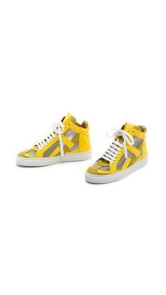 MM6 Maison Martin Margiela High Top Sneakers
