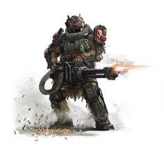 red bear by dongjin lee on ArtStation. Character Concept, Character Art, Character Design, Character Ideas, Armor Concept, Concept Art, Tactical Armor, Science Fiction, Sci Fi Armor