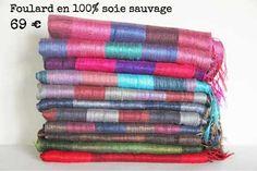 740ee2d2b2a5 Foulard et écharpe artisanal tissé à la main en Thailande, Laos, Vietnam et  Cambodge. Echarpe pour homme et femme issu de l artisanat en soie sauvage  ...