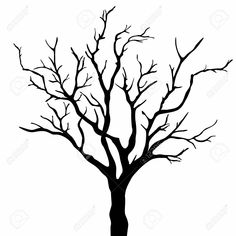 bare apple tree clipart. stretch bare tree silhouette clipart for your creation. apple