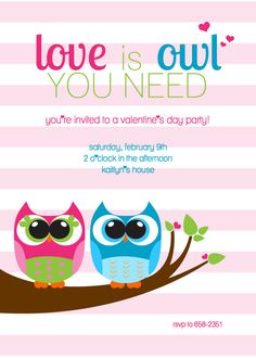 SALE Love is Owl you need Valentine's Day by DessertsDesigns