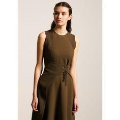 Olive Green Side Tie Dress @ TARA JARMON