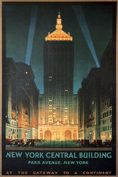 Vintage New York Poster                                                                                                                                                                                 More