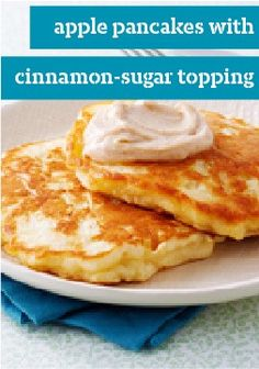 Apple Pancakes with Cinnamon-Sugar Topping